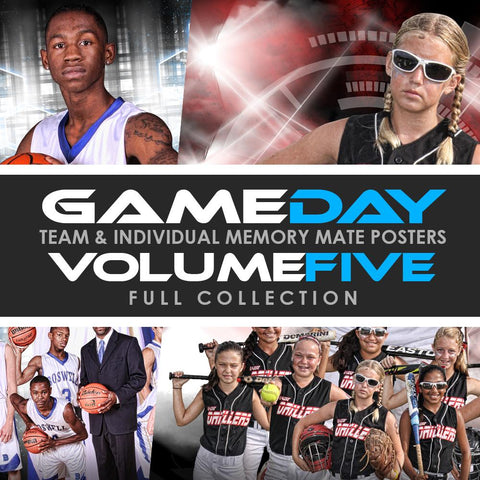 05 Game Day Memory Mates - V5 - FULL COLLECTION-Photoshop Template - Photo Solutions