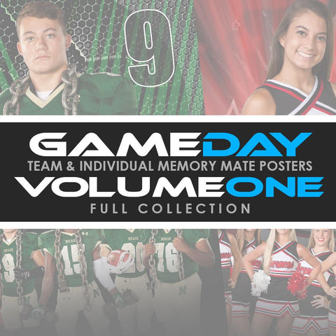 01 Game Day Memory Mates - V1 - FULL COLLECTION Downloadable Template Photo Solutions PSMGraphix