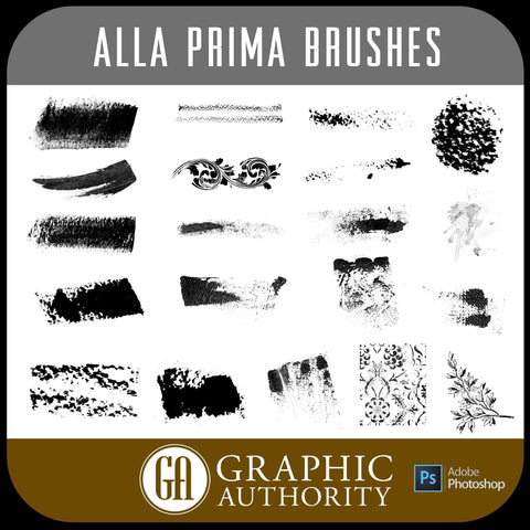 Alla Prima Photoshop ABR Brushes-Photoshop Template - Graphic Authority
