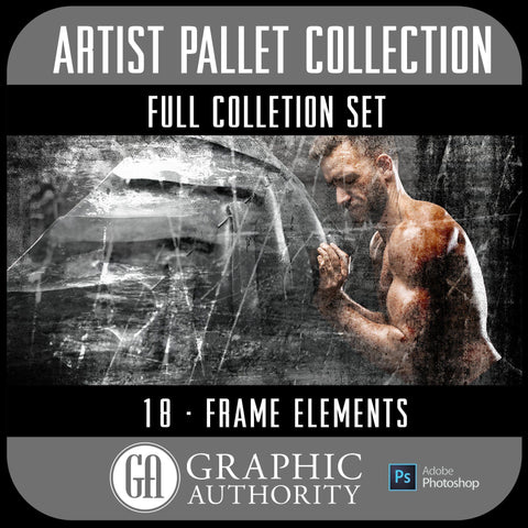 Artist Pallet Collection - Full Set- 18 Frames-Photoshop Template - Graphic Authority