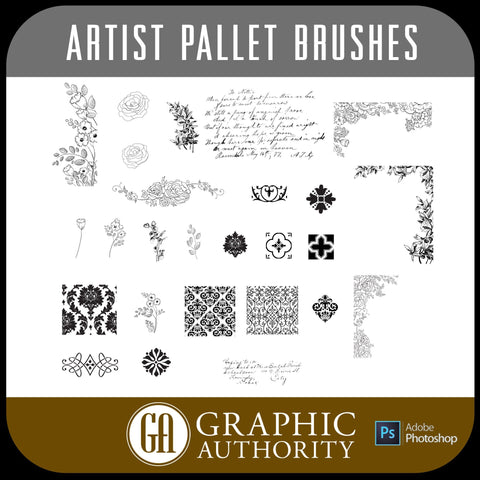 Artist Pallet Photoshop ABR Brushes-Photoshop Template - Graphic Authority