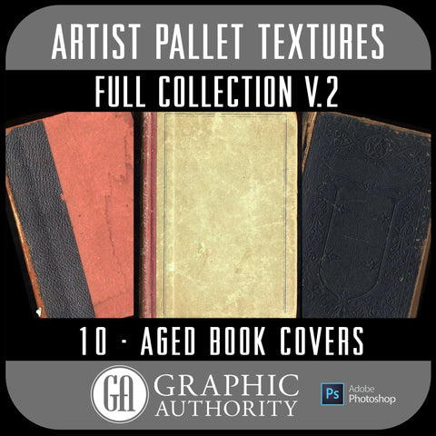 Artist Pallet - V.2 Aged Book Covers - Full Collection