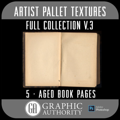Artist Pallet - V.3 Aged Book Pages- Full Collection
