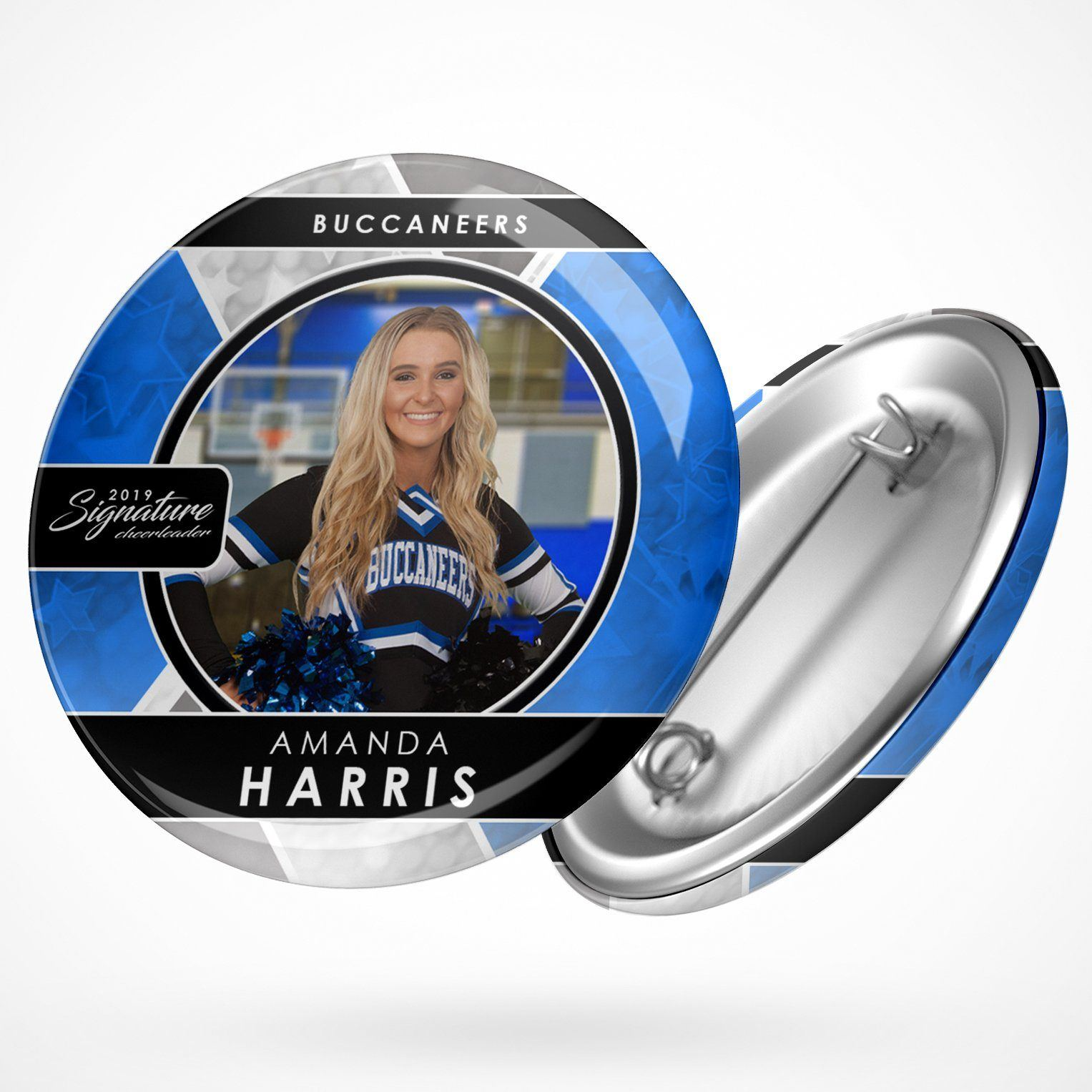 Signature Player - Cheer - V2 - Drop In Button Template-Photoshop Template - Photo Solutions