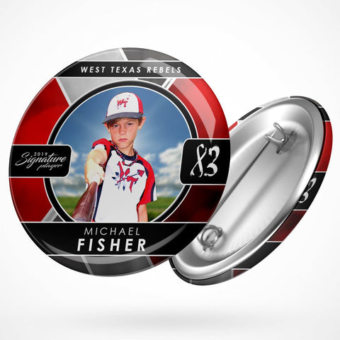 Signature Player - Baseball - V2 - Drop In Button Template