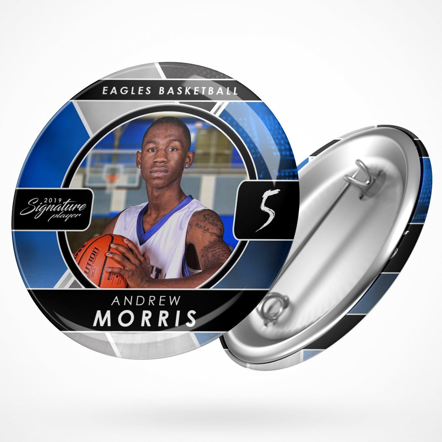 Signature Player - Basketball - V2 - Drop In Button Template-Photoshop Template - Photo Solutions