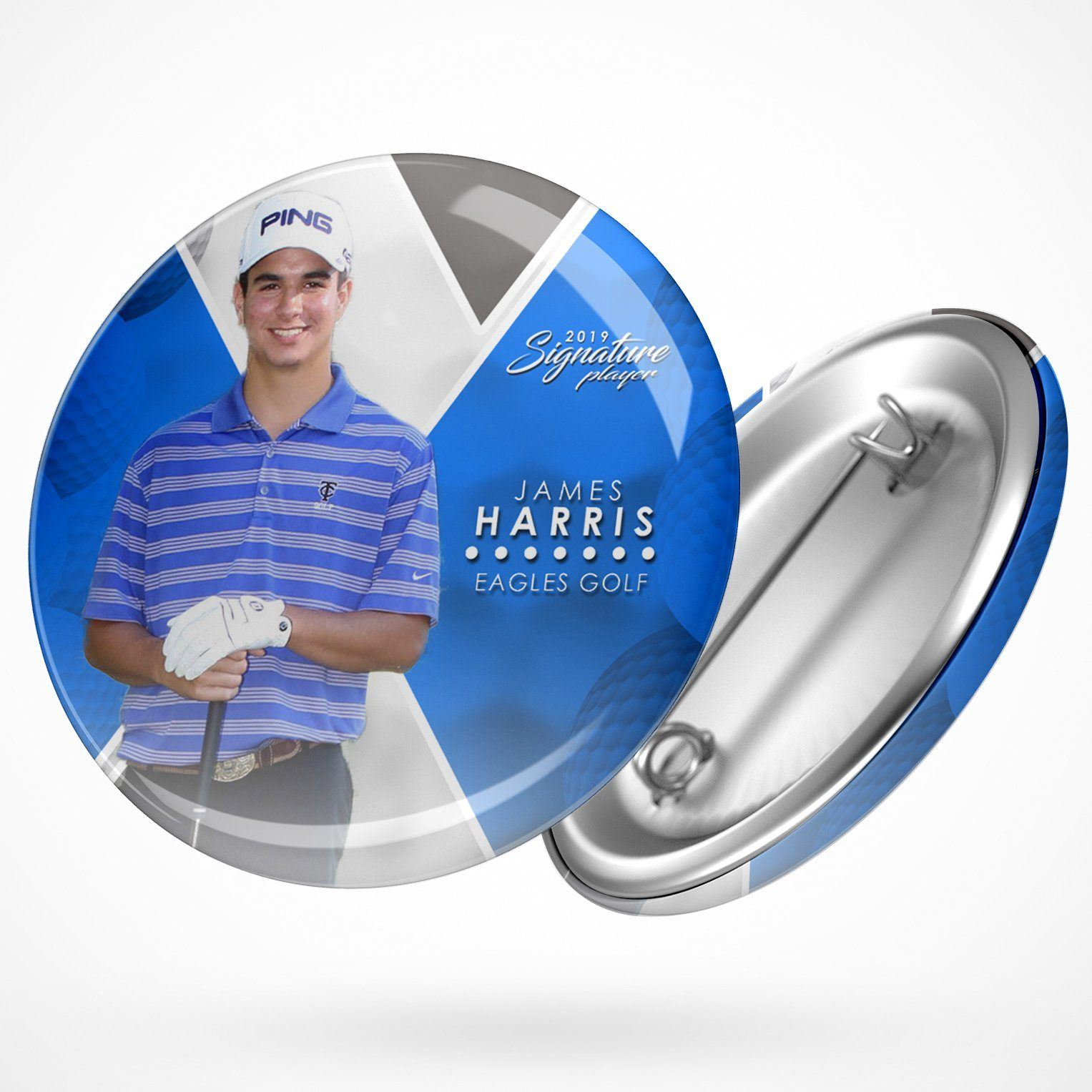 Signature Player - Golf - V2 - Extraction Button Template-Photoshop Template - Photo Solutions