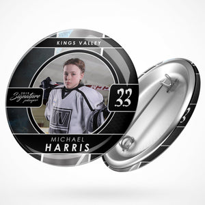 Signature Player - Hockey - V1 - Drop In Button Template-Photoshop Template - Photo Solutions