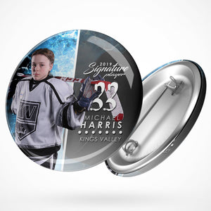 Signature Player - Hockey - V1 - Extraction Button Template-Photoshop Template - Photo Solutions