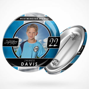 Signature Player - Soccer - V1 - Drop In Button Template-Photoshop Template - Photo Solutions