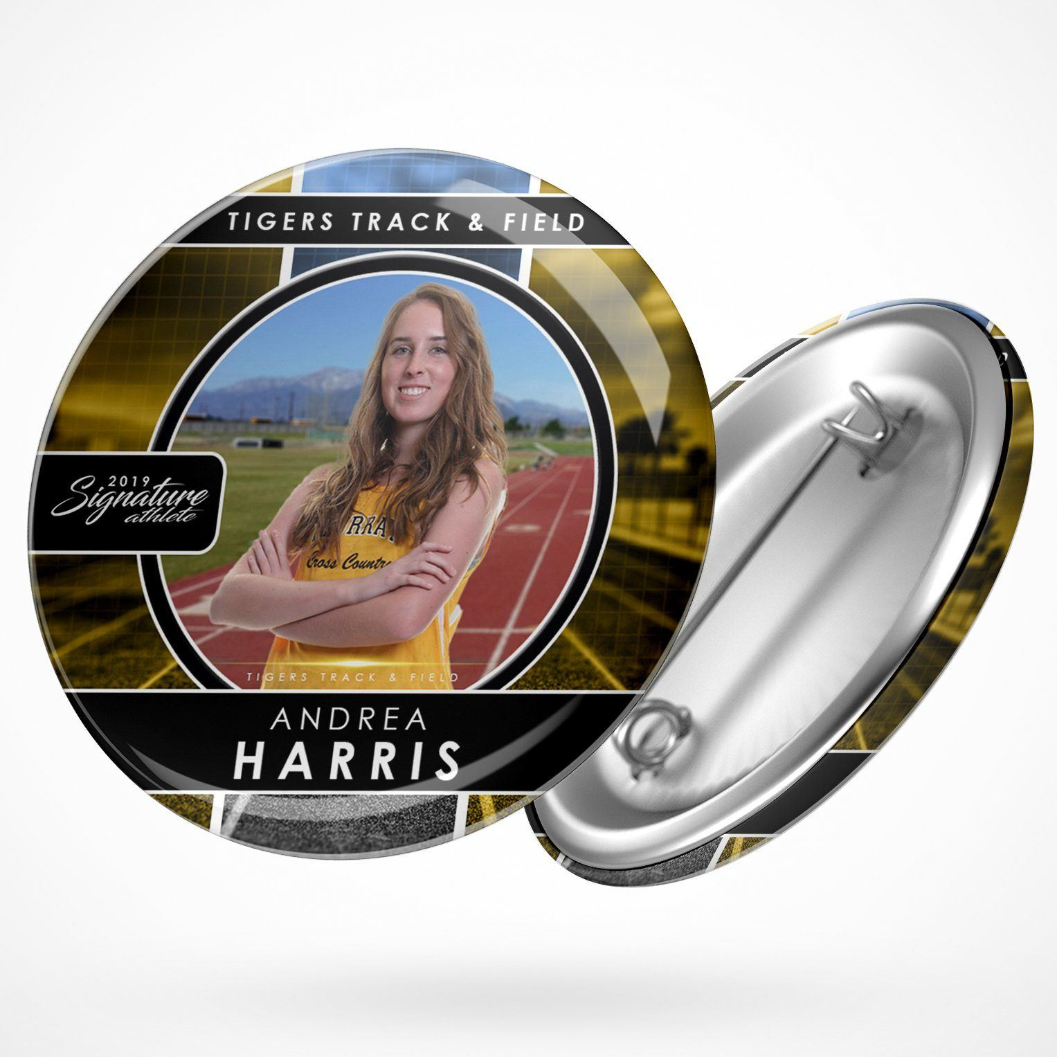 Signature Player - Track & Field - V1 - Drop In Button Template-Photoshop Template - Photo Solutions