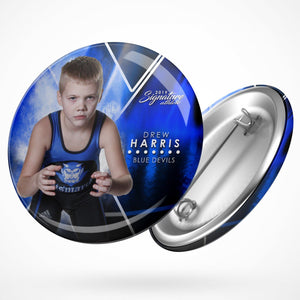 Signature Player - Wrestling - V2 - Extraction Button Template-Photoshop Template - Photo Solutions