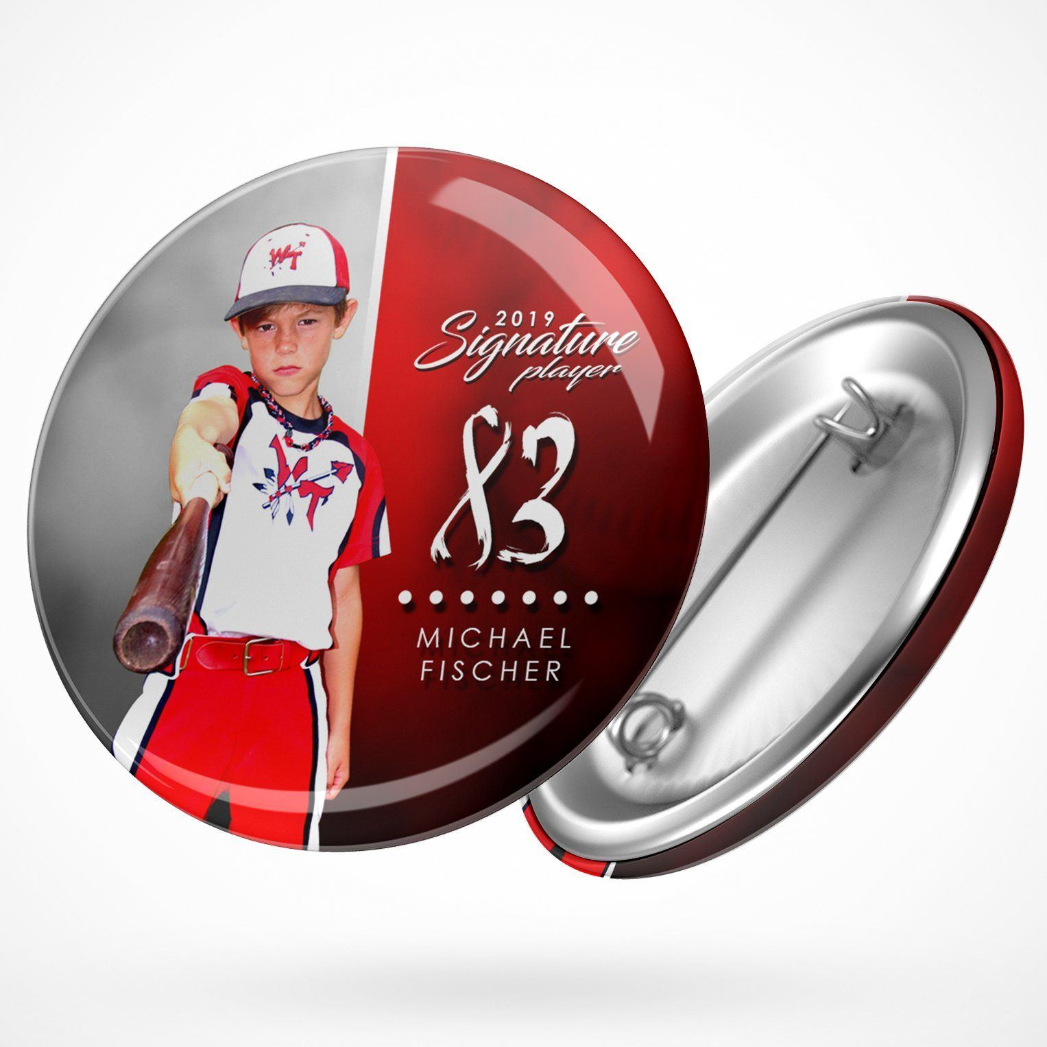 Signature Player - Baseball - V1 - Extraction Button Template-Photoshop Template - Photo Solutions