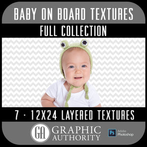 Baby on Board - 12x24 Layered Textures - Full Collection