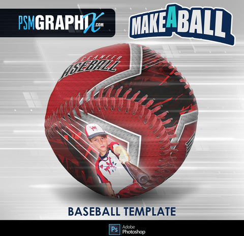 Breaker - V.1 - Baseball - Make-A-Ball Photoshop Template-Photoshop Template - PSMGraphix
