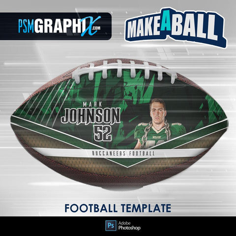 Breaker - V.1 - Football (Full Size) - Make-A-Ball Photoshop Template-Photoshop Template - PSMGraphix