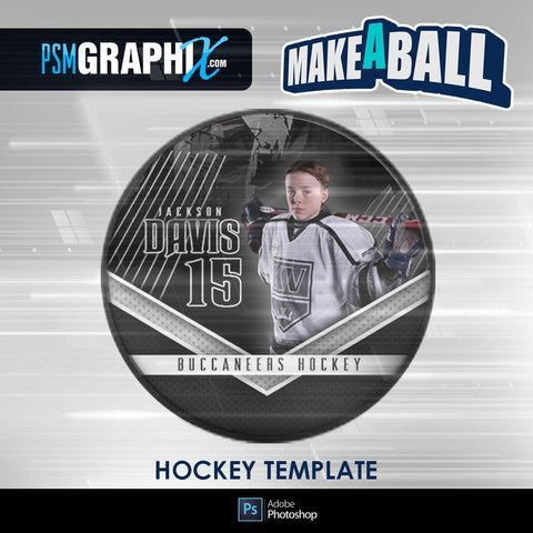 Breaker - V.1 - Hockey Puck - Make-A-Ball Photoshop Template-Photoshop Template - PSMGraphix