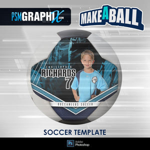 Breaker - V.1 - Soccer Ball (Full Size) - Make-A-Ball Photoshop Template-Photoshop Template - PSMGraphix