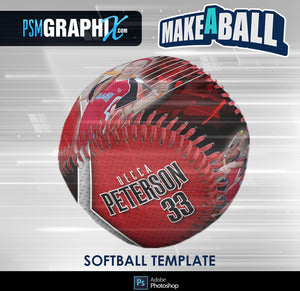 Breaker - V.1 - Softball - Make-A-Ball Photoshop Template-Photoshop Template - PSMGraphix