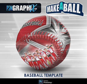 Buccaneer - V.1 - Baseball - Make-A-Ball Photoshop Template-Photoshop Template - PSMGraphix