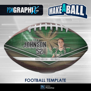 Buccaneer - V.1 - Football (Full Size)  - Make-A-Ball Photoshop Template-Photoshop Template - PSMGraphix