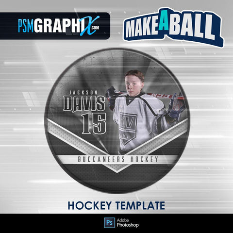 Buccaneer - V.1 - Hockey Puck - Make-A-Ball Photoshop Template-Photoshop Template - PSMGraphix