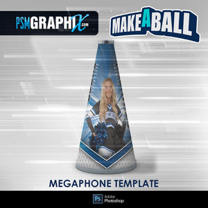 Buccaneer - V.1 - Cheer Megaphone - Make-A-Ball Photoshop Template-Photoshop Template - PSMGraphix