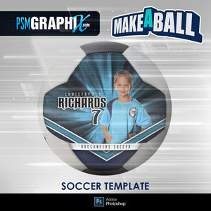 Buccaneer - V.1 - Soccer Ball (Full Size)  - Make-A-Ball Photoshop Template-Photoshop Template - PSMGraphix