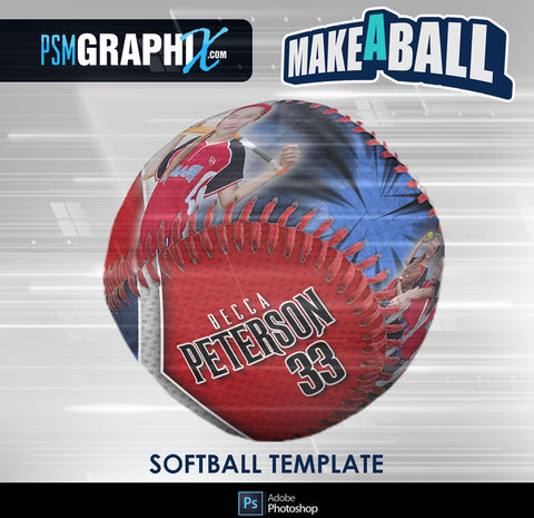Buccaneer - V.1 - Softball - Make-A-Ball Photoshop Template-Photoshop Template - PSMGraphix