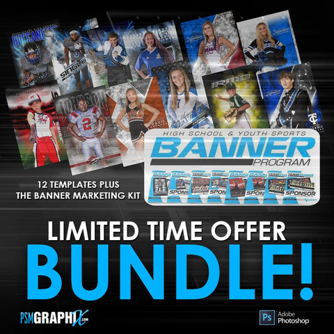 LIMITED TIME - Special Banner Template & Marketing Bundle-Photoshop Template - PSMGraphix