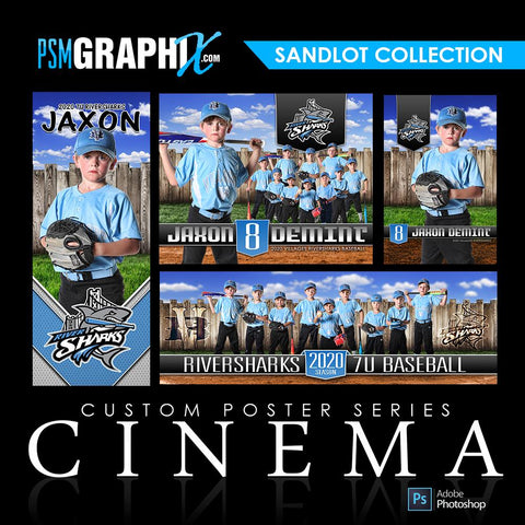01 Full Set - Sandlot Collection-Photoshop Template - PSMGraphix