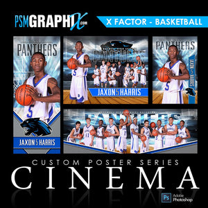 01 - Full Set - X-Factor - Basketball Collection-Photoshop Template - PSMGraphix