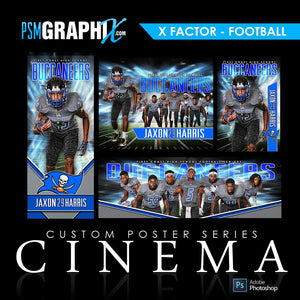 01 - Full Set - X-Factor - Football Collection-Photoshop Template - PSMGraphix