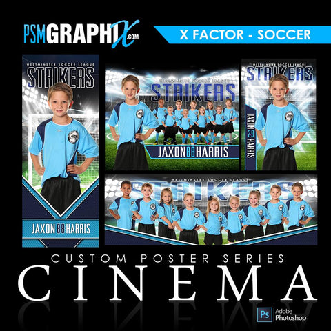 01 - Full Set - X-Factor - Soccer Collection-Photoshop Template - PSMGraphix