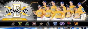 "Our House - Baseball - Cinema Series ""Game Time Edition"" - Team Panoramic-Photoshop Template - PSMGraphix"