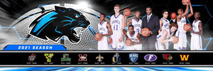 "Our House - Basketball - Cinema Series ""Game Time Edition"" - Team Panoramic-Photoshop Template - PSMGraphix"