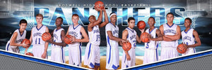 X Factor Basketball - Cinema Series - Team Panoramic-Photoshop Template - PSMGraphix