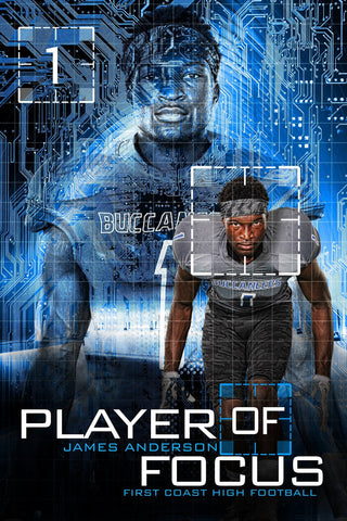 Player Of Focus - Cinema Series - Player Banner & Poster Template Downloadable Template Photo Solutions PSMGraphix