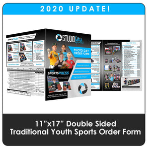 "2020 Update - Youth Sports Traditional 11""x17"" Order Form-Photoshop Template - Photo Solutions"