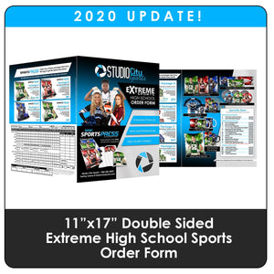 "2020 Update - High School Extreme Sports 11""x17"" Order Form-Photoshop Template - Photo Solutions"