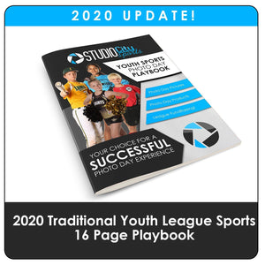 2020 Update - Youth Sports Traditional Playbook-Photoshop Template - Photo Solutions