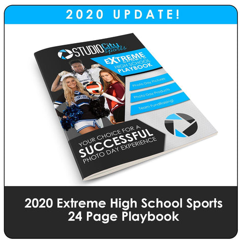 2020 Update - High School Extreme Sports Playbook-Photoshop Template - Photo Solutions