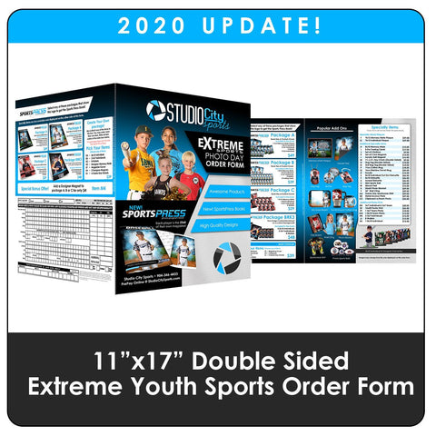 "2020 Update - Youth Sports Extreme 11""x17"" Order Form Downloadable Template Photo Solutions PSMGraphix"