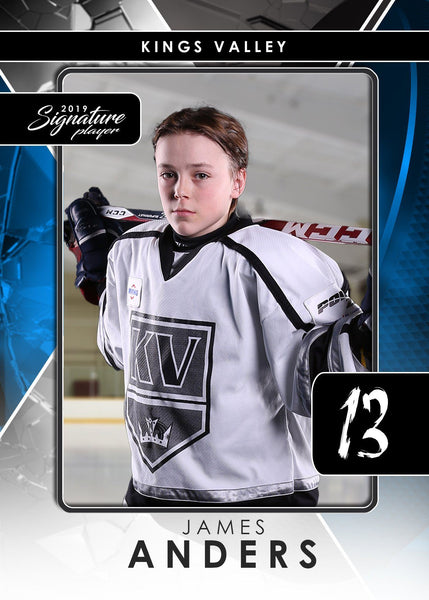Signature Player - Hockey - V2 - T&I Drop-In Collection-Photoshop Template - Photo Solutions