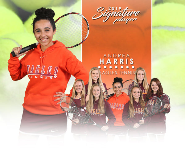 Signature Player - Tennis - V1 - T&I Extraction Collection-Photoshop Template - Photo Solutions