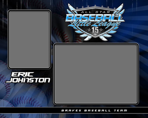 Baseball - v.SS - Memory Mate - H Downloadable Template Photo Solutions PSMGraphix