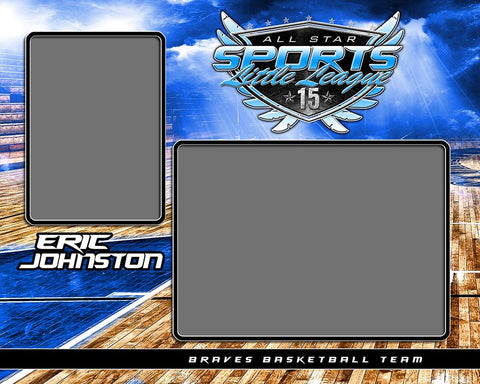 Basketball Night Game - Signature Series - Memory Mate - H-Photoshop Template - Photo Solutions