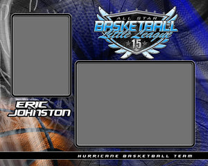 Basketball - v.SS - Memory Mate - H Photoshop Template -  PSMGraphix