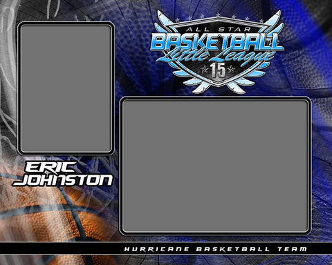 Basketball - v.SS - Memory Mate - H-Photoshop Template - Photo Solutions