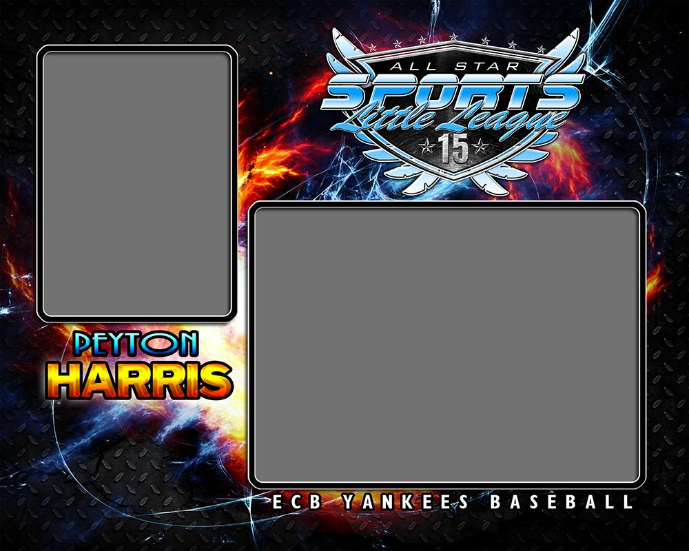 Fire & Ice v.3 - Memory Mate - H-Photoshop Template - Photo Solutions